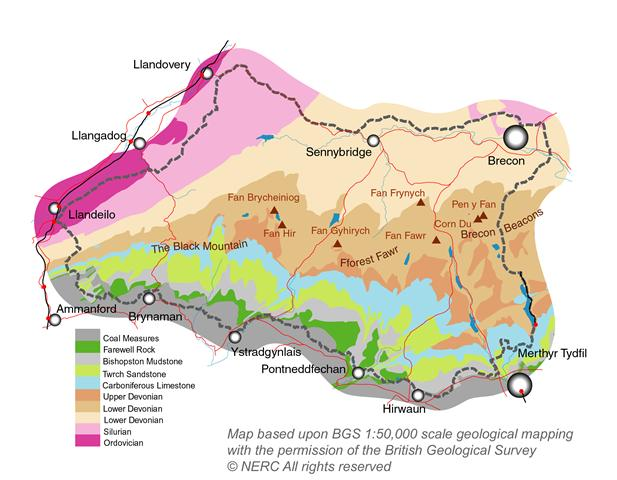 Geological map of Geopark (English)