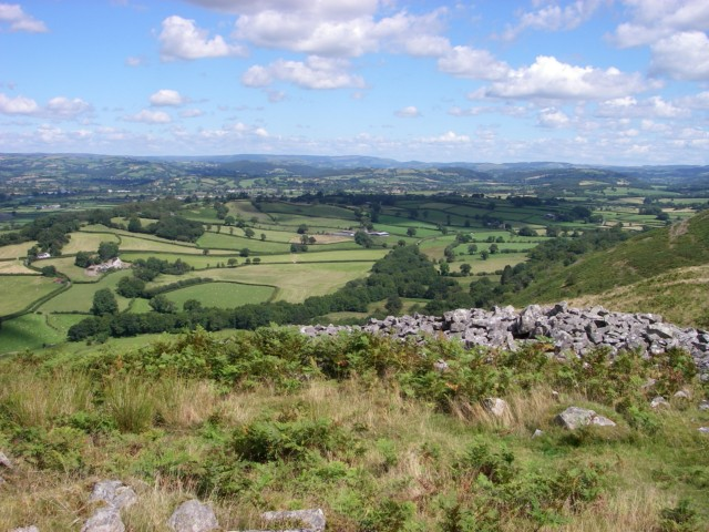 Vale of Towy from Garn Goch