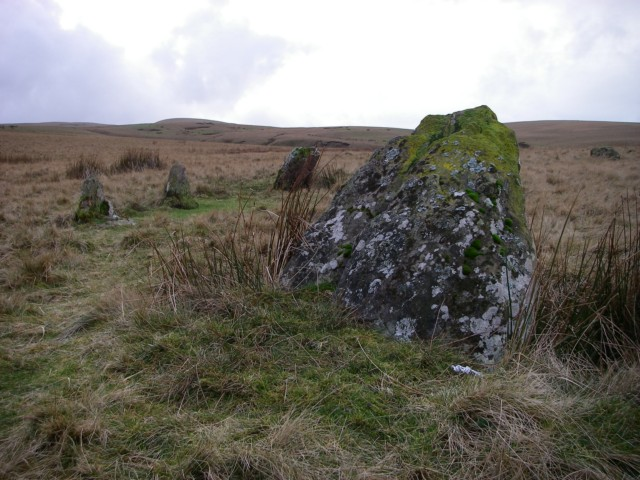 One of two stone circles at Nant Tarw