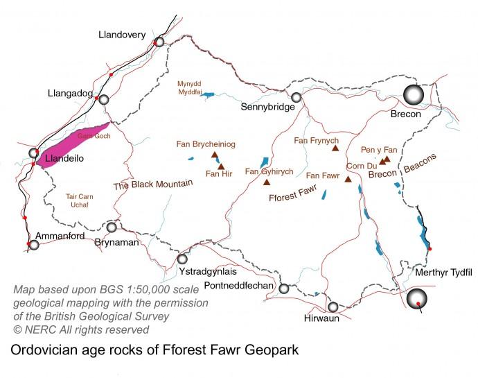 Ordovician rocks of the Geopark