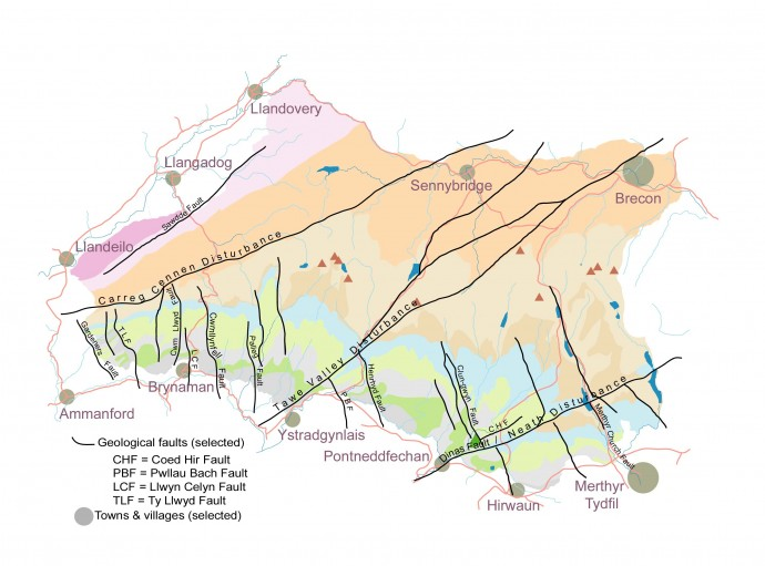Geological faults of the Geopark