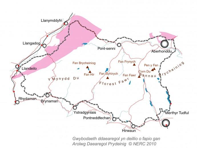 Creigiau Silwraidd o Geoparc